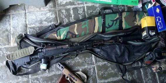 Изъятие у браконьера оружия, боеприпасов, наркотиков